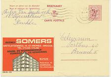 BELGIEN 1968, 2202 SOMERS Wohnungsbau und Vermietung 2 F Werbe-GA KNOKKE