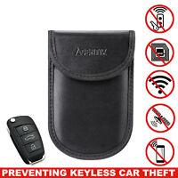 Car Key Keyless Entry Fob Signal Guard Blocker Protector Faraday Bag Pouch Blk