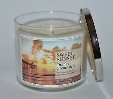 BATH BODY WORKS SWEET SUNSET ORANGE CREAMSICLE SCENTED CANDLE 3 WICK 14.5 LARGE