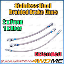 TOYOTA HILUX KUN26 N70 4WD EXTENDED Stainless Steel Braided Brake Lines w/o ABS