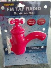MAXIM FM TAP RED RADIO SPLASH PROOF, COMES WITH SUCTION PADS  BATHROOM SHOWER