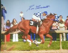 Secretariat photograph signed Ron Turcotte autograph Preakness at the wire