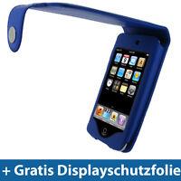 Blau PU Leder Tasche für Apple iPod Touch 2te 3te Gen 2G 3G Schutz Hülle Case