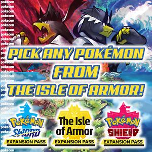 POKEMON SWORD & SHIELD | CHOOSE ANY POKEMON FROM THE ISLE OF ARMOR 🏝️🛡️