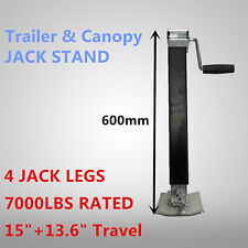 4X Trailer Caravan Canopy Jack Stand 3175KG Rated Extendable Stabilizer Leg