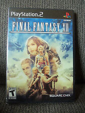 Final Fantasy XII 12 (Sony PlayStation 2, 2006) ORIGINAL BLACK LABEL