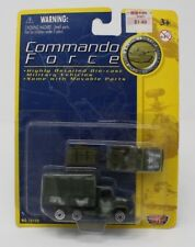 """Motormax Commando Force 3"""" US Troup Truck and Jeep Platoon Car #76188"""