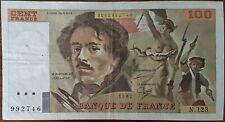 Billet 100 francs Eugène DELACROIX 1987 FRANCE  N.123