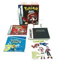 Pokemon Ruby GBA Box - Manual - Inserts - NO GAME - Gameboy Advance
