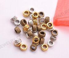 50/100Pcs Antique Tibetan Silver /Gold/Bronze Flower Spacer Beads C3026