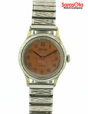 Vintage Selca Salmon Dial Stainless Steel Expasnsion Band Incabloc Women's Watch