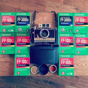 Polaroid Land 180 camera – fuji Fp100 / Fp3000 instant film 195 180 185 control