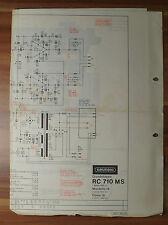 Schaltbild Grundig Grundchassis RC710MS Mandello 10 Como 10