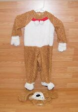 Unbranded 18-24 Months Brown / White Dog Costume With Head Piece & Tail **READ**