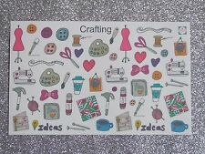 Crafting Deco -Planner/Diary/Scrapbooking Stickers -Hand Drawn- GlossyPaper