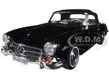 1957 MERCEDES 190 SL BLACK 1/18 DIECAST MODEL CAR BY NOREV 183538
