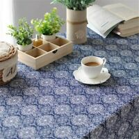 Blue Printed Table Cloth Cover Home Decor Cooking Tea Towel Cotton Table Cloth