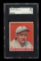 1933 Goudey BB # 38 Fred Brickell Philadelphia Phillies SGC 50 VG-EX 4 !!