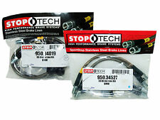 Stoptech Stainless Steel Braided Brake Lines (Front & Rear Set / 34019+34527)