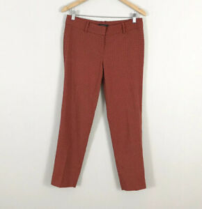 Ann Taylor size 4 Crop Ankle Pants Red Blue