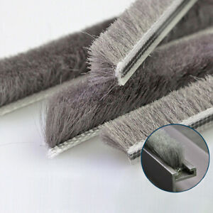 Draught Excluder Brush Pile Seal Window Door Sealing Strip Anti Dust 5x6-7x12mm