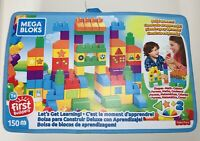 MEGA BLOKS Let's Get Learning Building Set 150 piece Big Building Bag