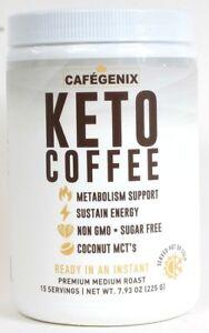 1 Cafegenix 7.9 Oz Keto Coffee Non GMO 15 Serving Instant Premium Medium Roast