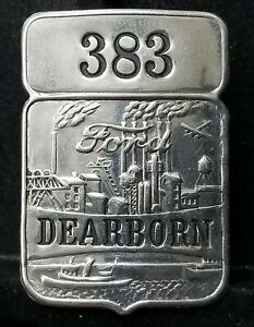 Vintage Ford Dearborn Plant Employee ID Badge #383 Rare!