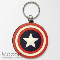 Captain America Logo Keyring - Shield Marvel Avengers Super Hero Charm Strap