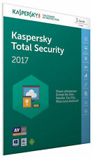 Kaspersky Total Security 2017 1 PC / Geräte 1Jahr Vollversion Key / Antivirus