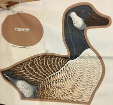 CRANSTON VIP Wild Bird Collection ~ CANADA GOOSE ~ 100% Cotton Fabric Panel