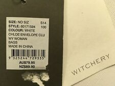 Witchery white envelope chloe clutch New With Tags RRP $ 89.90