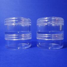 80 set 2 Stacked Storage Container Mini Clear Plastic Jar Travel Sample Case 5 g