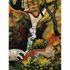August Macke Forest Brook Old Master Art Painting Canvas Print