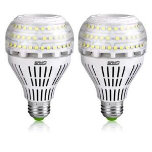 SANSI 22W=250W 2-PACK LED Light Bulb 5000K Cool White Replacement Daylight
