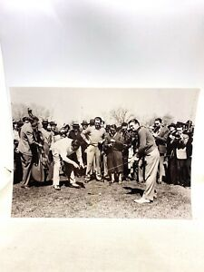 Vintage Babe Ruth Golfing Photograph