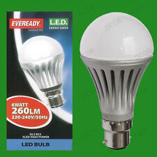 10x 6W LED Ultra Low Energy Instant On Pearl GLS Globe Light Bulbs BC B22 Lamps