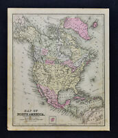 1887 Cowperthwait Map - North America - United States Canada Mexico Cuba Alaska