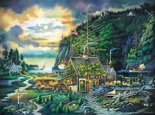 Beautiful Charles Wysocki - Moonlight And Roses - New 1000 Pieces Jigsaw Puzzle