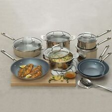 NEW Emeril Lagasse 15-Piece Stainless Steel & Nonstick Cookware Fry Pan Pot Set