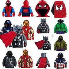 Halloween SpiderMan Cosplay Costume Kids Boy SuperHero Hoodies Jacket Coat Party