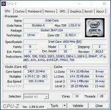 Socket P Skylake-SP 135W Intel Xeon Gold 5117F ES QLH1 1.8GHz 14C LGA3647