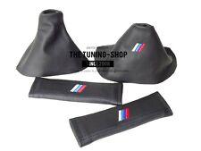 POUR BMW X5 E53 99-06 Gear Frein à Main Gaiter + ceinture couvre en CUIR LOGO M3