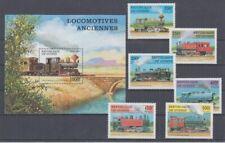 Railway - Locomotives Guinea 1659-64+ Block 512 (MNH)