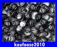 100 Neue Kronkorken schwarz mit Aufdruck Brauen Basteln Sammeln
