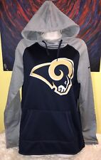 Women s Nike Therma-Fit NFL Los Angeles Rams Tailgate All Time Hoodie Medium 9beff6088a9