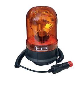 Rundumleuchte mit Magnetfuß ECE R65 Straßenzulassung, 12V 24V Warnleuchte gelb