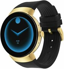Movado Connect Silicone Strap Smartwatch Black One Size