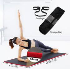 10mm Thick Yoga Mat Pilates Fitness Meditation Exercise Camping Gym Non-Slip Pad