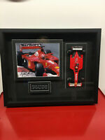 MICHAEL SCHUMACHER SIGNED 5TH F1 CHAMPIONSHIP DIORAMA  ACQUIRED 2003 CANADIAN GP
